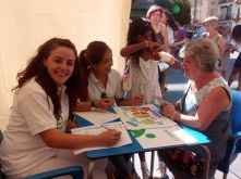 Verano Codinan 2016, actividad organizada por el Colegio de Nutricionistas de Andalucía para la promoción de consejos nutricionales y cálculo del IMC